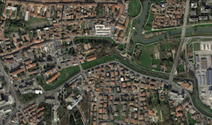 Foto aerea dell'area interessata dalla proposta (da Google Earth)
